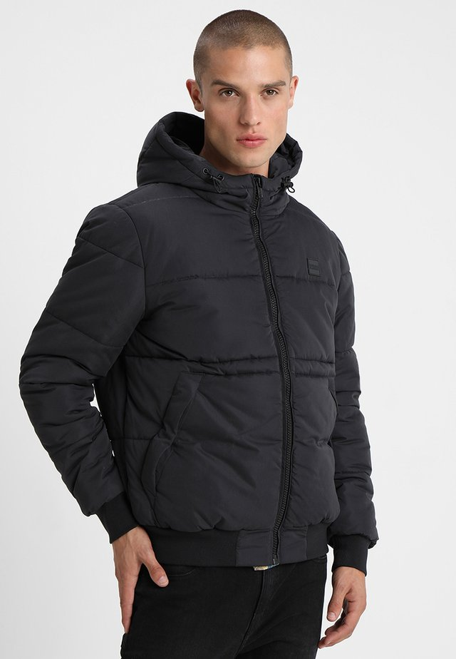 WIDE NECK PUFFER - Light jacket - black