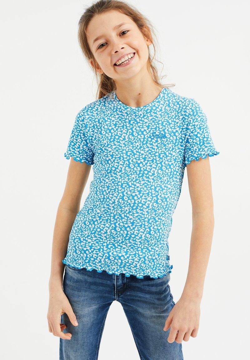 WE Fashion - 3 PACK - Print T-shirt - blue