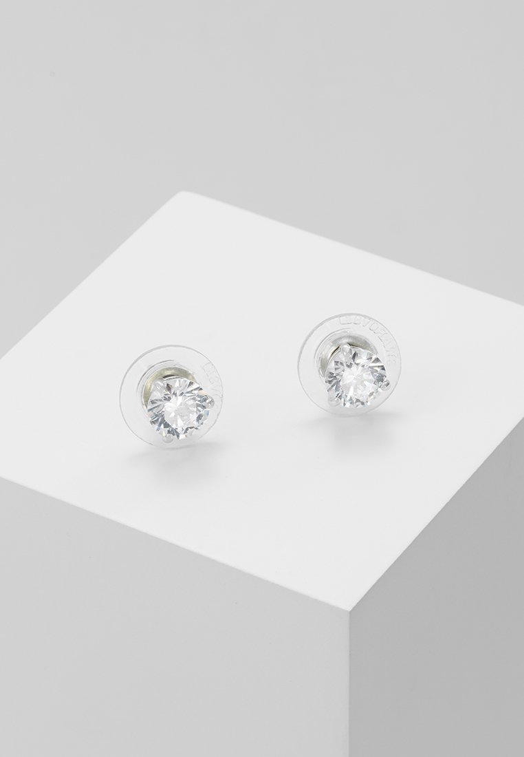 Swarovski - SOLITAIRE - Earrings - silver-coloured/transparent