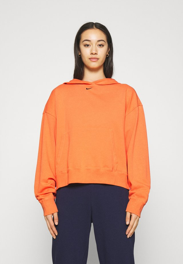 WASH HOODIE - Sweatshirt - atomic orange/black