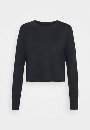CROSS BACK LONG SLEEVE - Pitkähihainen paita - black