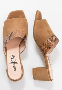 Hash#TAG Sustainable - Heeled mules - light brown - 3