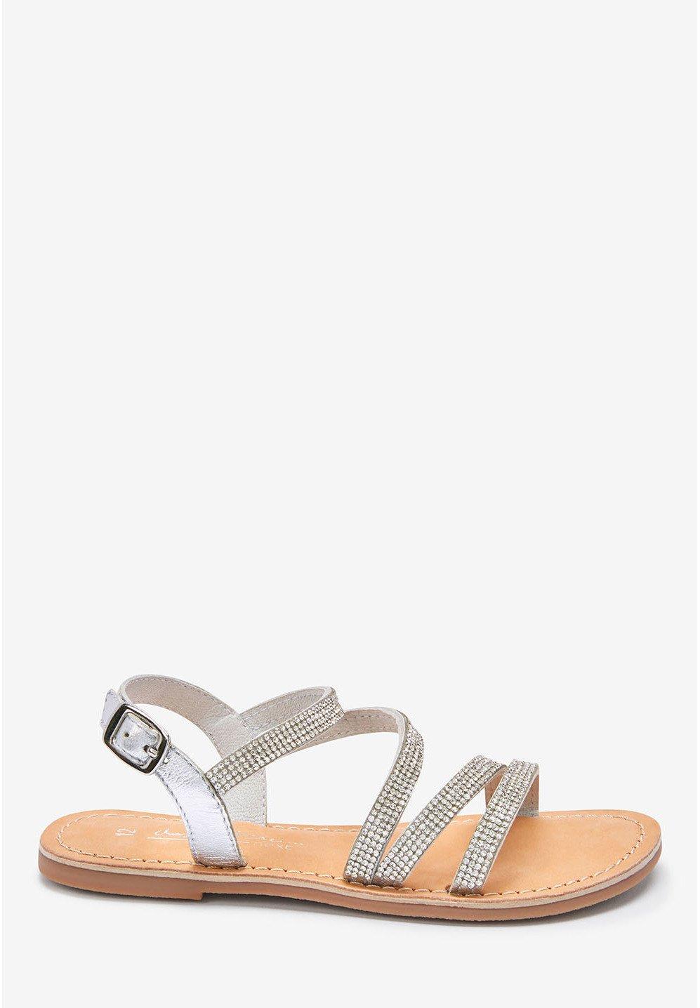 Next HEATSEAL STRAPPY SANDALS (OLDER) - Sandały - silver - Buty dla dzieci