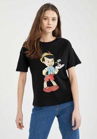 DeFacto - DISNEY PINOCCHIO - Print T-shirt - black - 0