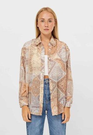 FLIESSENDES  - Button-down blouse - stone