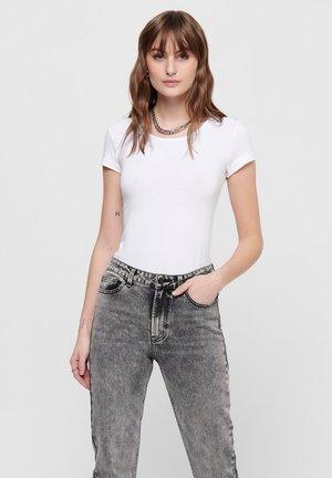 PACK OF 3 - Basic T-shirt - white / white / black