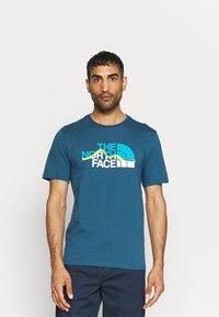 The North Face - MOUNTAIN LINE TEE - T-shirt con stampa - monterey blue - 0