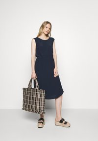 Marc O'Polo DENIM - DRESS STRAP DETAIL AT BACK - Day dress - scandinavian blue - 1