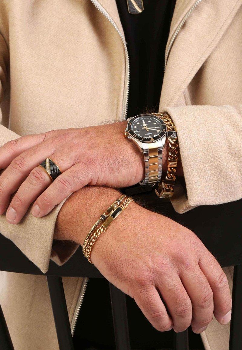 Lucardi - Ring - goudkleurig/zwart
