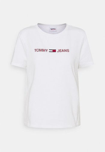 LINEAR TEE - Print T-shirt - white
