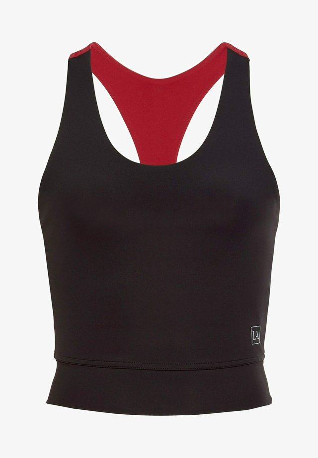 Sports bra - schwarz-rot