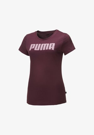 ESSENTIALS  - Print T-shirt - burgundy