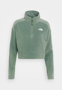 The North Face - GLACIER CROPPED ZIP - Fleece jumper - agave green - 4