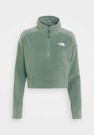 GLACIER CROPPED ZIP - Fleece jumper - agave green