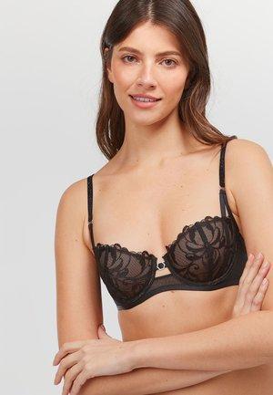 Balconette bra - black