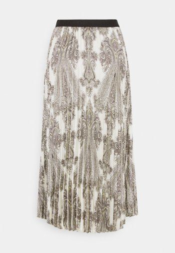 ANIA PRINTED - Pleated skirt - offwhite
