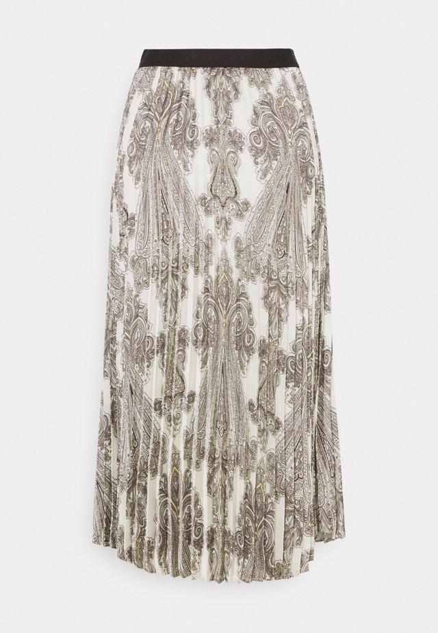 ANIA PRINTED - Veckad kjol - offwhite