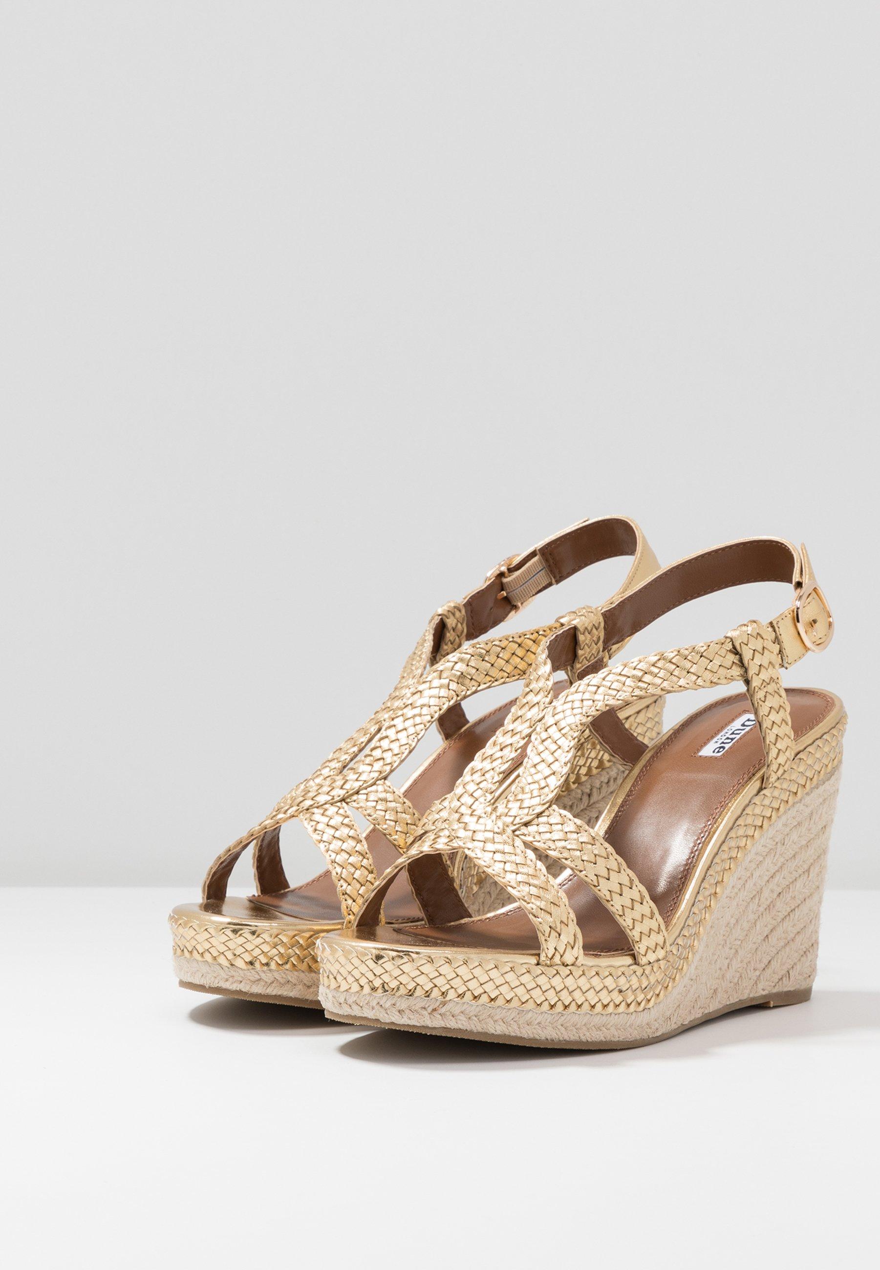 Classico Scarpe da Donna Dune London KEW Sandali con tacco gold