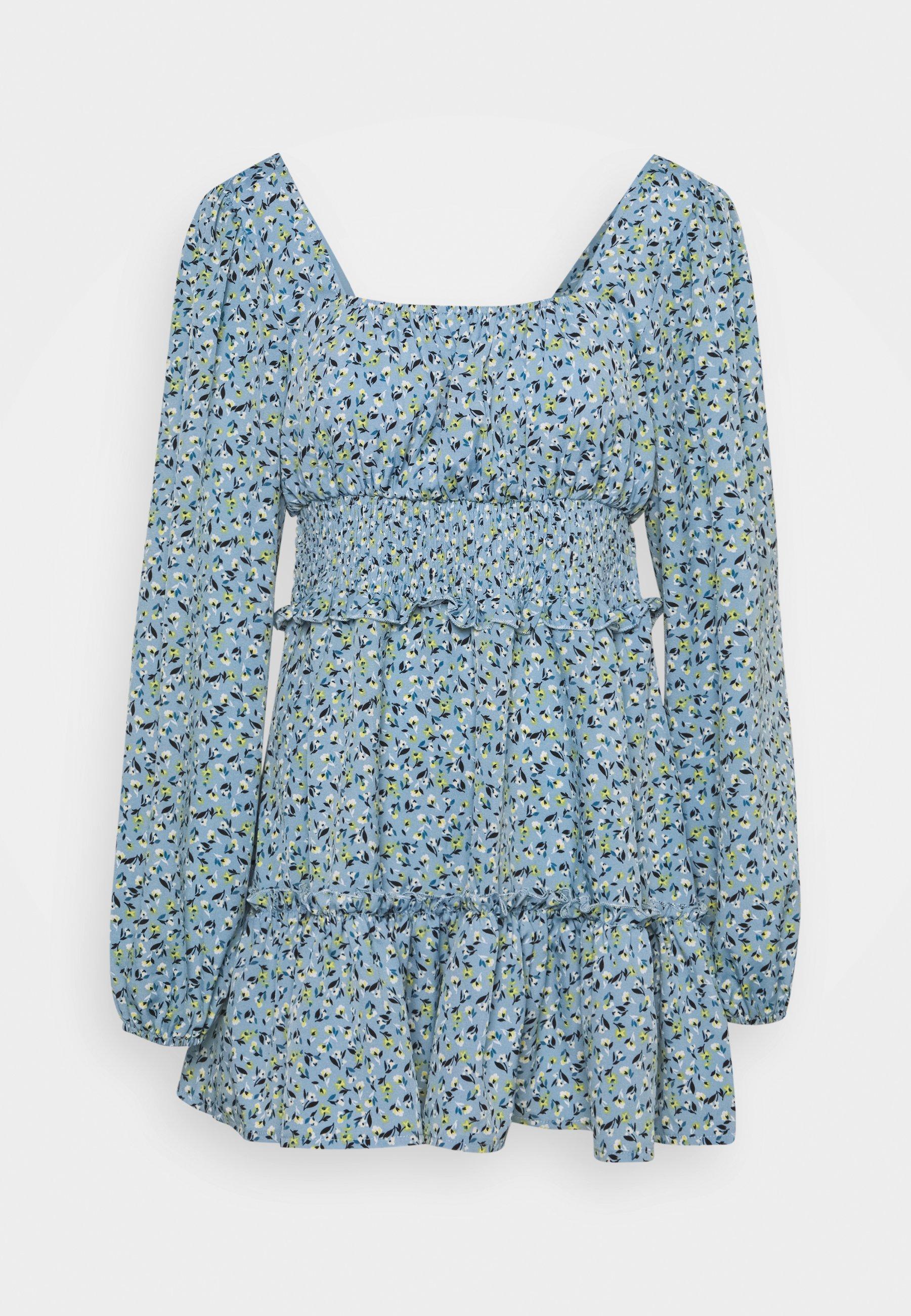 Women SHIRRED WAIST TIERED DRESS DITSY - Day dress