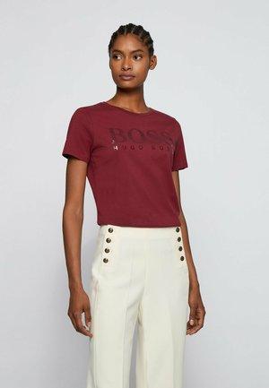 C ELOGO - Print T-shirt - dark red