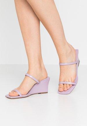 NORI WEDGE MULE - Heeled mules - lilac