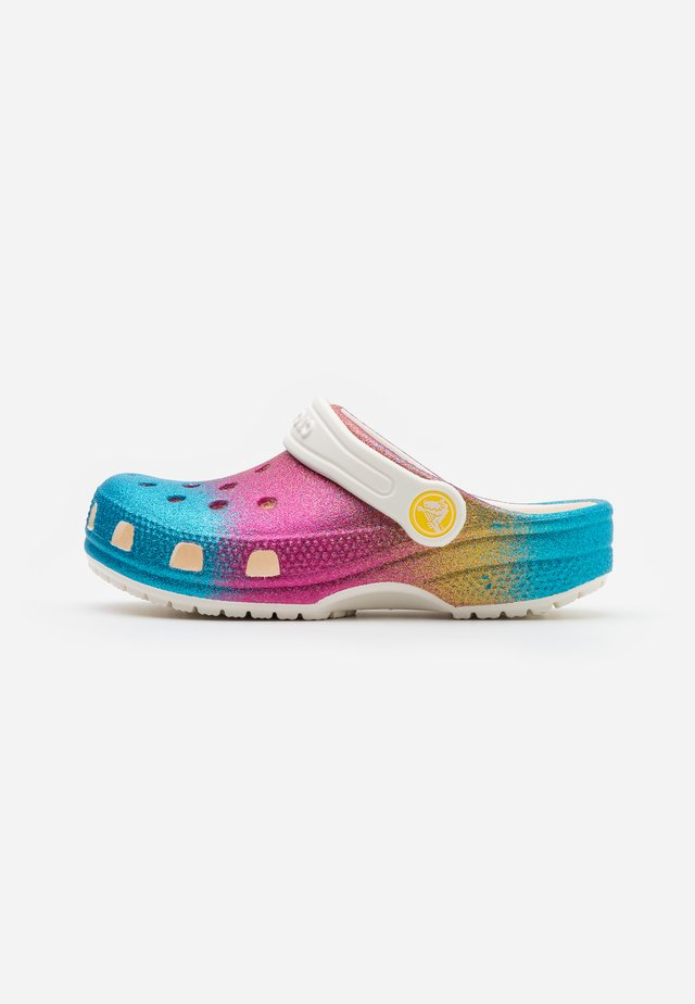 CLASSIC OMBRE GLITTER CLOG  - Badesandale - oyster/multicolor