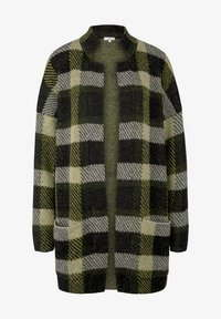 TOM TAILOR - Cardigan - black yellow check knitted - 5