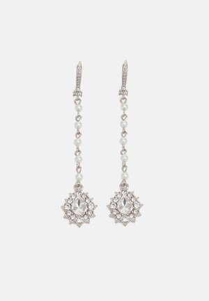 LINEAR - Oorbellen - silver-coloured/white
