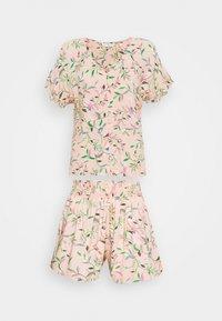 Marks & Spencer London - FLORAL SHORTIE  - Pyjamas - peach mix - 4
