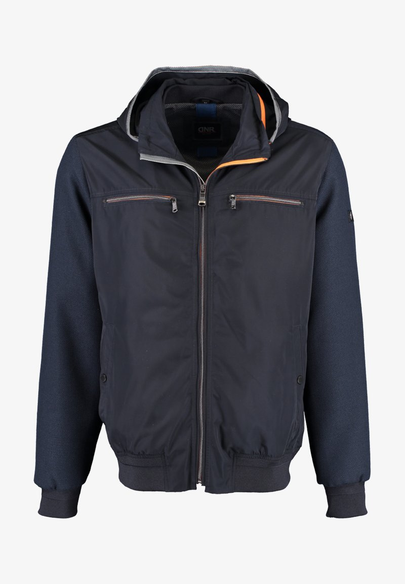 DNR Jackets - MIT STEHKRAGEN UND KAPUZE - Light jacket - dark blue