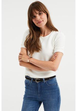MET STRUCTUUR - Basic T-shirt - white