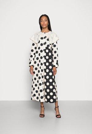 DOTANA DRESS - Shirt dress - black white dot