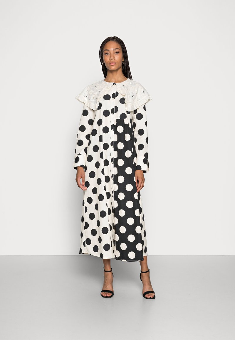 Love Copenhagen - DOTANA DRESS - Shirt dress - black white dot