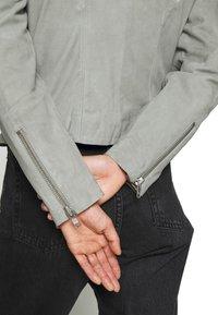 YAS - YASMOUSSE JACKET - Leather jacket - shadow - 5