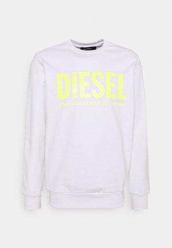 GIR DIVISION LOGO - Sweatshirt - white/lemon