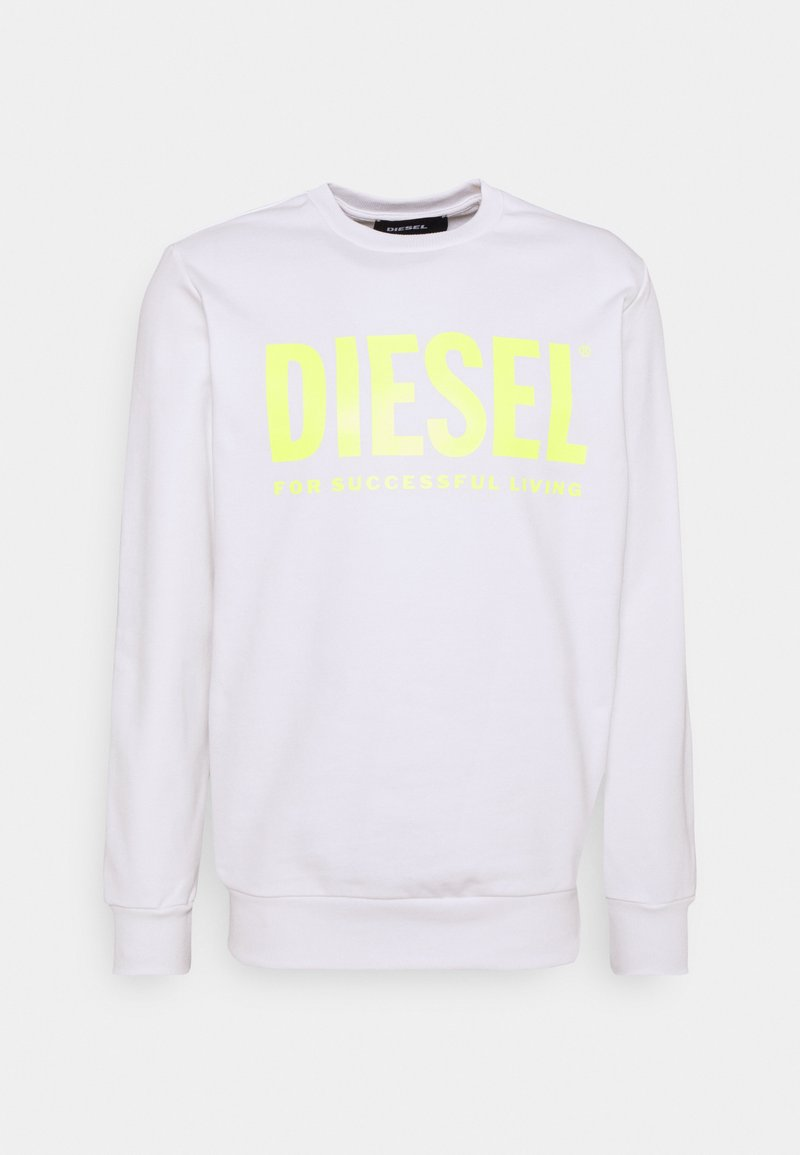 Diesel - GIR DIVISION LOGO - Sweatshirt - white/lemon