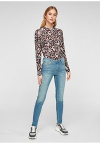 QS by s.Oliver - Long sleeved top - black aop - 1