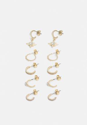 PCSANNIA HOOP EARRINGS 5 PACK - Øreringe - gold-coloured