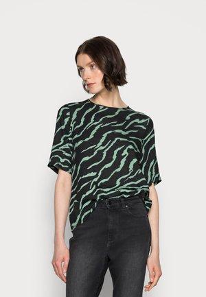 ZIANA BLOUSE - Print T-shirt - black, hedge
