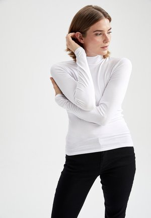FITTED LONG SLEEVED - Maglietta a manica lunga - white