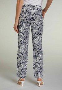 Oui - TROPICAL - Trousers - white blue - 2