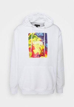 FRONT GRAPHIC HOODY UNISEX - Sweatshirt - white