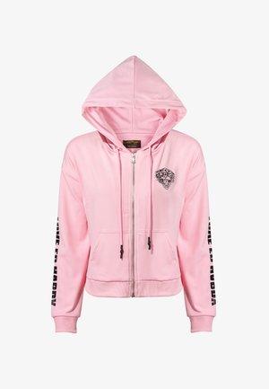 LOVE ED CROP ZIP HOODY - Zip-up hoodie - pink