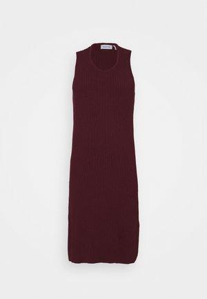 SLEEVELESS MIDI DRESS - Day dress - burgundy