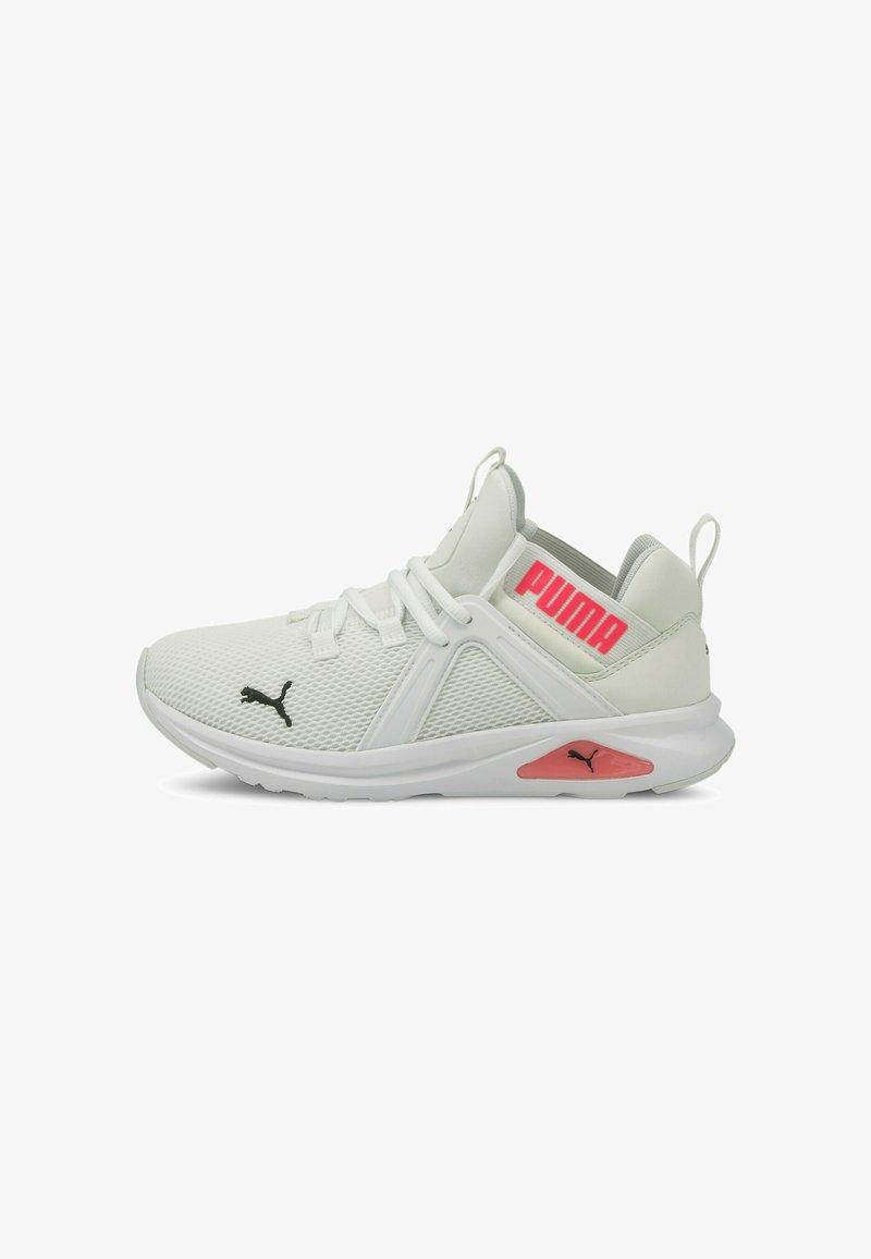 Puma - ENZO  - Neutral running shoes - puma white-ignite pink