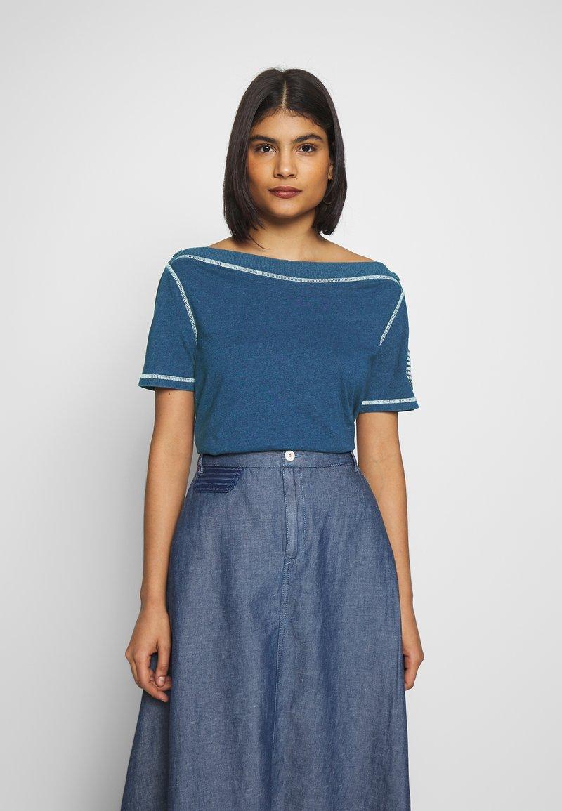 Benetton - T-shirt z nadrukiem - blue