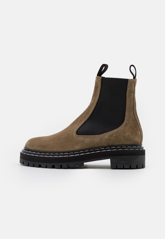COMBAT CHELSEA BOOT - Botki - taupe