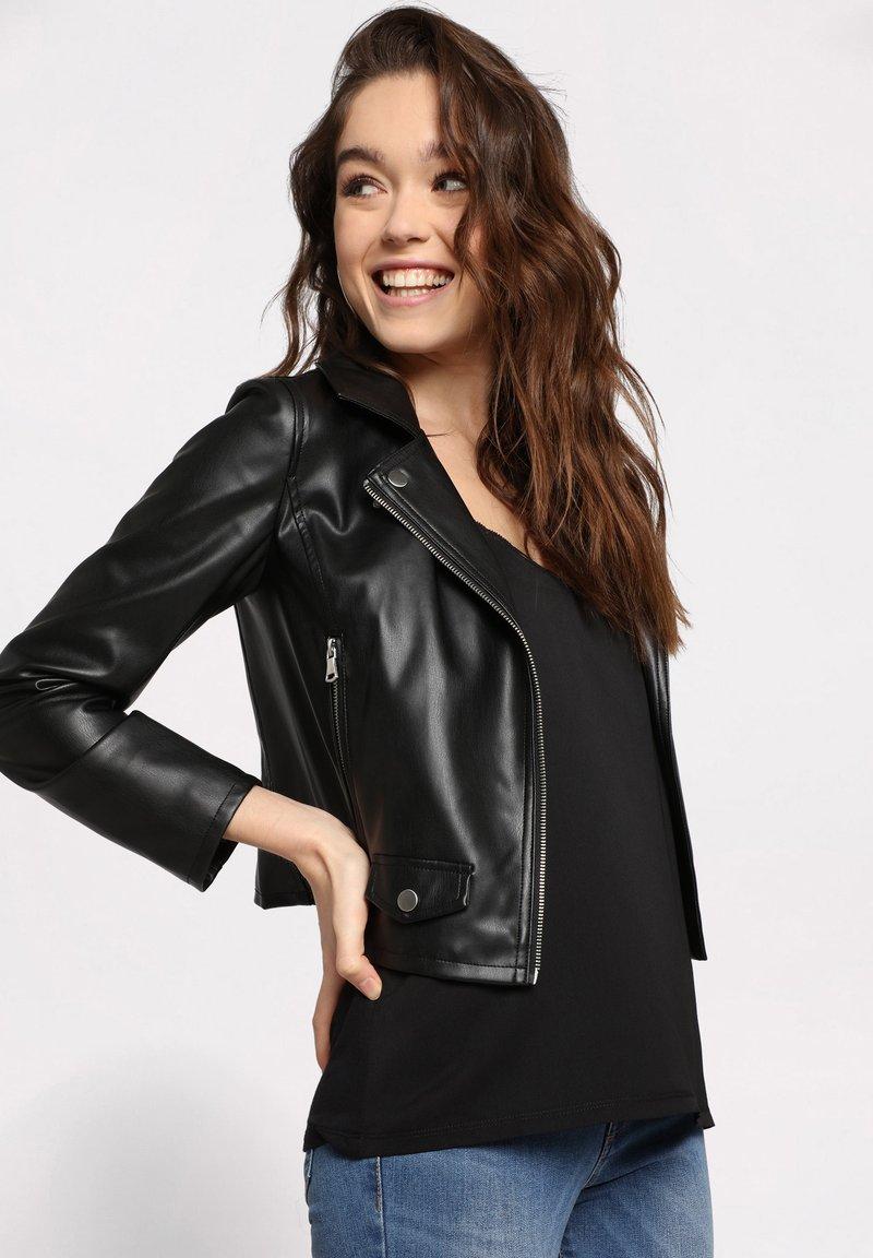 Cache Cache - Faux leather jacket - noir