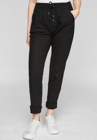QS by s.Oliver - REGULAR FIT - Trousers - black - 0