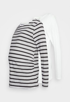 2PACK MATERNITY  - Long sleeved top - white